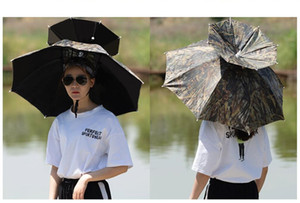 Head wear umbrella fishing umbrella double layer foldable Sunscreen Shade