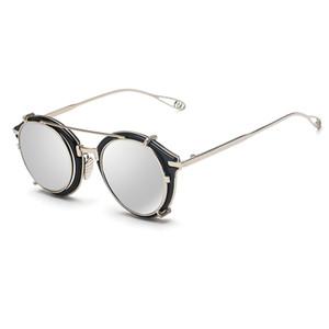 Победа Lip2020 Мужчины Женщины моды круглое зеркало Sun очки стимпанк Паровой панк Хип-хоп Хиппи рэнд Дизайнер винтажные очки