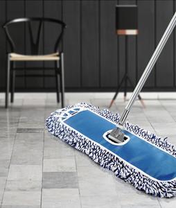 Ten Sets of Flat Mop Large 40cm Dust Pusher Set Cotton Yarn Mop Floor Tile Commercial Hotel Factory Aluminum Alloy Rod Retractable