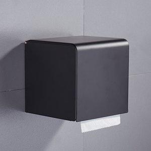 Tissue Black Paper Box ванной Рулон бумаги Держатель настенный для туалетной бумаги стойку Аксессуары для ванной комнаты держатель ткани Box