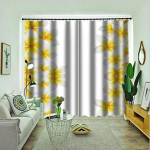 Moderne Vorhang Vorhänge Druck Wohnzimmer Schlafzimmer Blackout Curtain Drapes gelbe Blume-Kind-Raum Vorhänge