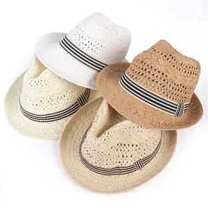 Western Cowboy Hat Men Kids Summer 2020 Beach Sun Hats Panama Jazz Straw Hat sombreros de playa fedora Cap breathable Sunhat