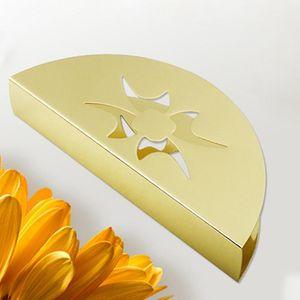 1pcs Fan-Shaped Stainless Steel Napkin Holder Tissue Organizer Case Box