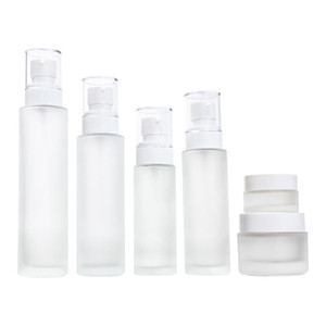 50G Essence Foundation Glass Jars Cosmetic Packaging Container Cream Makeup Refillable Bottles