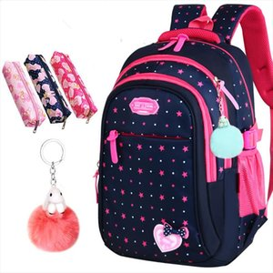 Hot Sale Girls School Bags Cute Bow knot For Children Backpack Large Capacity Elementary School Bag Stars Print Mochila Escolar