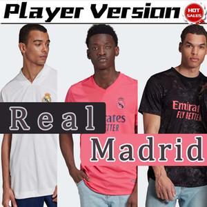 20 21 jugador de la versión Camiseta reales de los jerseys del fútbol de Madrid hogar lejos tercera Hombres camiseta de fútbol 2021 PELIGRO BENZEMA KROOS personalizada