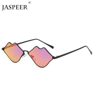 JASPEER Steampunk Gafas de sol de las mujeres de lujo gafas de sol retras de los hombres atractivo rojo del diseñador del gradiente Labios Marca Gafas