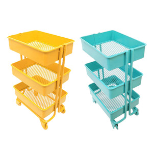 2pcs Modern 1 12 Miniature 3 Tier Storage Shelf Rack Dollhouse Decoration