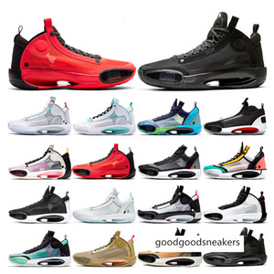 New Mens Basketball Shoes 34 Jumpman Xxxiv Bayou Boys Black Cat Blue Void Crispy Infrared Red Orbit Sports Sneakers Trainers Fashion Outdoor