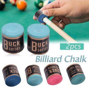 2pcs HOT / set 4 cores Billiard Chalks Pool Cue vara Chalk Snooker Billiard Acessórios Fácil Chalk Atacado