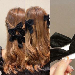 0uaL5 capelli di bowknot accessori dei capelli del bambino della clip dei bambini Fiore netto elegante rosso dei capelli della clip di ragazze Ins Candy Tornante bordo della clip