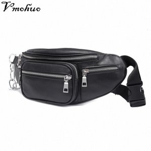 VMOHUO Zipper Waist Pack Bag Unisex PU Leather Shoulder Chest Bags Crossbody Bag Big Capacity Ladies Handbag Fanny Waist Packs B993#