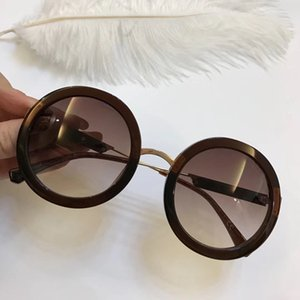 New Luxury 4106 Sunglasses For Women Brand Designer Fashion Summer Style Round Full Frame Top Quality UV Protection Lens Come With Package