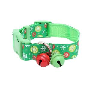 1шт Pet Белл Воротник Рождество Стиль Ошейник для Pet Cat собак щенок Зеленый Snowflake Pattern Собака Подвеска Supplies