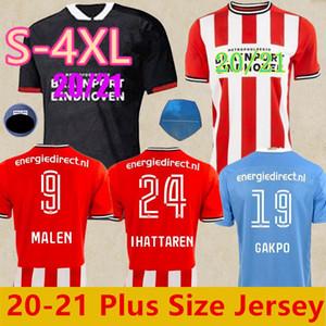 كبيرة الحجم 20 21 PSV ايندهوفن لكرة القدم جيرسي ثلث الأسود 2020 2021 BRUMA مالين بيريرو LOZANO الرجال مايوه دي قميص كرة القدم camiset الثالث