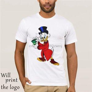 Gli uomini maglietta di modo Fantastico Donna divertente maglietta Paperon de 'Paperoni completi su misura ha stampato T-shirt