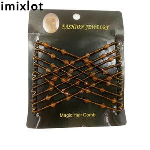 imixlot Haare kämmen Kopfschmuck Drahtrolle Acryl wulstige Magic Hair Comb Styling Zubehör