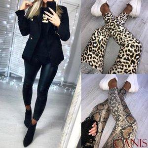 Femmes imprimé léopard taille haute Leggings serpent Motif de la peau Skinny Crayon Leggins Slim dames Pantalon stretch