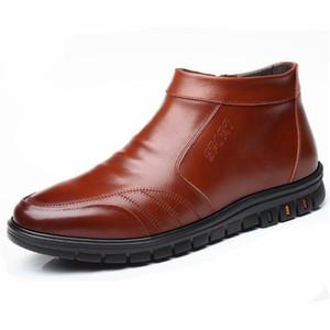 Ботинки зимний мех один шерстяная теплая обувь мужчины снег светло уютная мода повседневная лодыжка
