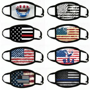 Manques de masques American Election Fournitures d'impression à la poussière Masque d'impression pour hommes Femmes Femmes Drapeau American Masque Masques 2020 # 838