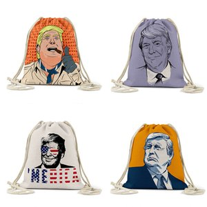 Bolsa de almacenamiento Trump Llama la cuerda bolsa Elección presidencial de los EE.UU. Trump impresos Bolsas Mochila al aire libre del lazo del bolsillo FoldableStorage Bolsa w-00258