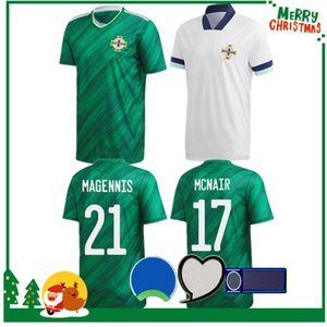 2020 أيرلندا الشمالية لكرة القدم جيرسي افرتي 2021 الرجال الرئيسية الكبار + الأطفال مجموعات DAVIS MAGENNIS EVANS ماكنير BOYCE كرة القدم قميص