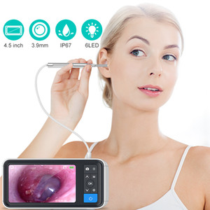Digital Ear Otoscope 3.9mm Visual Ultra-Slim HD Ear Scope Camera With Cleaner with 4.5 Inch Wax Removal Tool and 6 LED