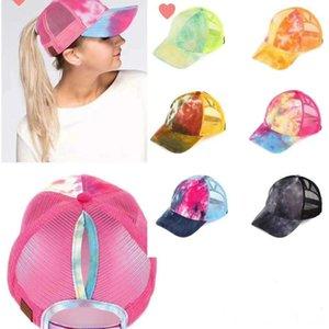 Party Hats Women Summer Ponytail Baseball Cap Snapback Cotton Cap Men Women Hip Hop Dad Mesh Hat Trucker Hat Wholesaling