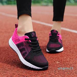 뜨거운 판매-ZHENZU 여성의 스포츠 신발 여성 브랜드 스니커즈 여성 통기성 미끄러 움 방지 라이트 플랫 신발을 실행