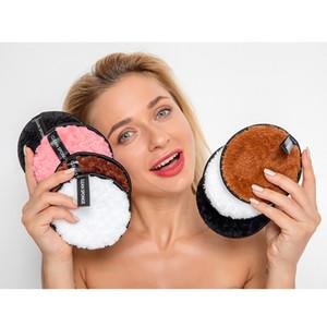 Tissu microfibre Tapis Maquillage du visage Remover Puff Nettoyant Visage serviette réutilisable coton double couche Nail Art lingette de nettoyage
