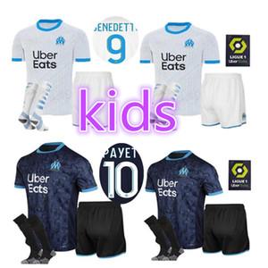 20 21 Olympique de Marsella camiseta de fútbol OM Maillot 2020 2021 PAYET THAUVIN BENEDETTO camiseta de fútbol hombres hijos juegos de piezas de calcetines pantalones cortos