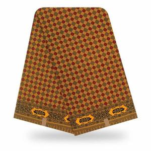 Blesing nuevo tejido de algodón de cera original de 2020 tela de la impresión africano amarillo 100% para vestido de novia tejido tela africana