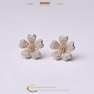 KtuSH style coréen simples Hipster oreille fleur stud boucles d'oreille en diamant boucle d'oreille boucles d'oreilles en diamant stud rouge en ligne Daisy oreille créative