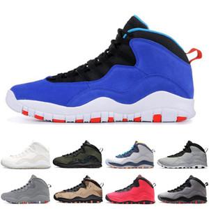 Sapatos de basquete sneaker 10 10s cimento escola costas fumaça cinza esfriar aço chicago 310805-16 mens esporte novo