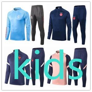 kids france ajax 2020 2021 psg  soccer football tracksuit  training camisetas de madrid real  england  liverpool tracksuits barcelona