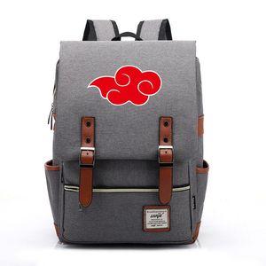 Cartoon Naruto Vintage Laptop Backpack Women Canvas Bags Men Travel Leisure Backpacks Casual School Bags For Teenager Boys Girls