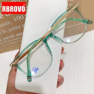 Marco RBROVO vidrios cuadrados retro mujeres califican las gafas Mujeres Anti-azul claro de las lentes de espejo Lentes De Lectura Hombre