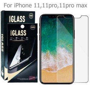 Premium-ausgeglichene Glas-Schirm-Schutz-Film für Google Pixel 5 4 XL 2 3 3a lite iPhone 12 11 pro max Xperia 5 8 II Alcatel 1SE 2020