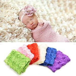 Newborn Rose Flower Blanket Backdrop Handmade Baby Photography Props Swaddling Rug Infant Christmas Halloween Costume