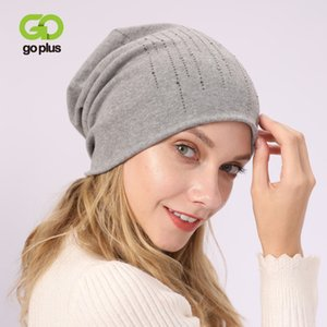 2020 New Female Beanies Cotton Winter Hats for Women Casual Autumn Knitted Girl Fashion High Quality Bonnet Cap Soft Cotton Hat