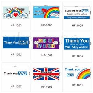 Regno Unito casa parete Banner Bandiere Thank You NHS Bandiera Regno Unito Arcobaleno stampati Bandiere 50 * 110 centimetri da kingroom RRA3547