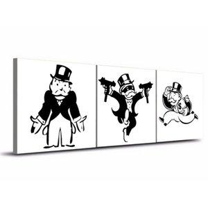 Alec Monopol Graffiti,3 Pieces HD Canvas Print Home Decor Art Painting  (Unframed Framed)