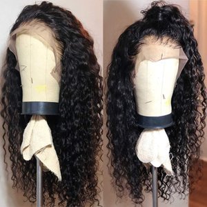 PAFF Kinky Curly Lace front Synthetic Hair Wigs Jet Black Wig Cosplay PrePlucked High Ponytail Heat Resistatnt Fiber Wig