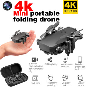LF606 Quadcopter Mini Drone with 4K Camera HD Foldable Drones One-Key Return FPV Follow Me RC Helicopter Quadrocopter Kid's Toys