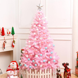 1.2M Cherry Blossom Pink Christmas Tree Decoration Deluxe Encrypted Christmas Tree Gifts with LED Lights Colorful Ball Decor