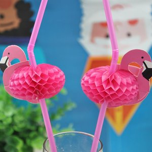 Tropical Disposable Tableware Supplies 3d Birthday Pineapple Paper Drinking Straws 25pcs Party Wedding Hawaii Flamingo Kjyyi bdesports