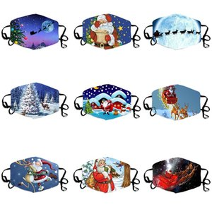 9 styles Christmas pattern Fashion Designer Face mask Anti-Dust protection printed washable cotton masks Dustproof Breathable Face masks
