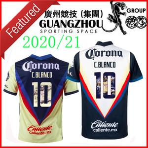 2020 2021 Club America del ds casa C. Blanco 10 SPECIAL maglie di calcio 20 21 Slim Fit Jersey con camicie Galleria stampa Divisa
