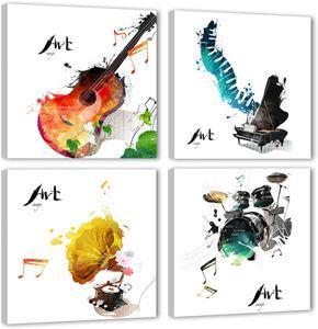 Абстрактный холст стены искусства цвет музыкальные инструменты изображения гитара настенные картины для домашней спальни гостиной декор