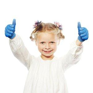 per Cgjxs 20pcs guanti in lattice monouso bambini I bambini di protezione in nitrile Igiene universale Teens piccola mano di sicurezza
